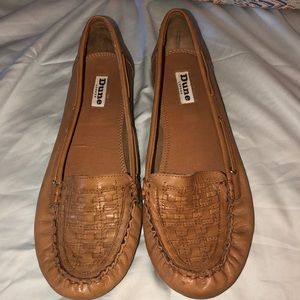 Dune London Woven Detail Moccasin Flats